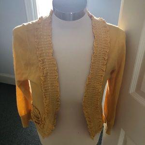 Anthropologie Yellow Sweater
